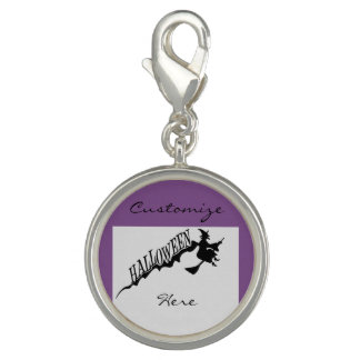 Halloween Witch Riding Broom Thunder_Cove Photo Charms