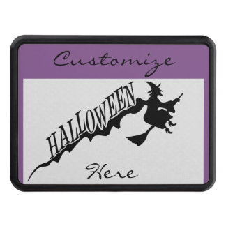 Halloween Witch Riding Broom Thunder_Cove Trailer Hitch Cover