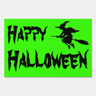Halloween Witch Silhouette Sign