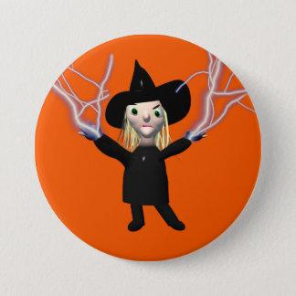 Halloween Witch Spell 3 Inch Round Button