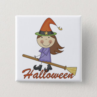 Halloween Witch T-shirts and Gifts 2 Inch Square Button