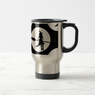 halloween witch travel mug