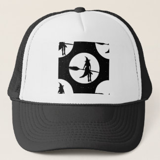 halloween witch trucker hat