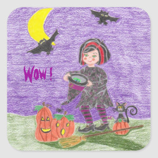 Halloween witch, Wow ! reward stickers