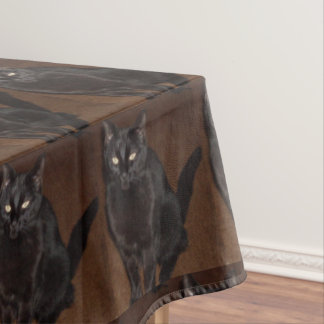HALLOWEEN WITCHES BLACK CAT tablecloth