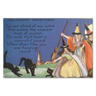Halloween witches black cats party tissue tissue paper