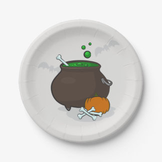 Halloween witches bowl paper plate