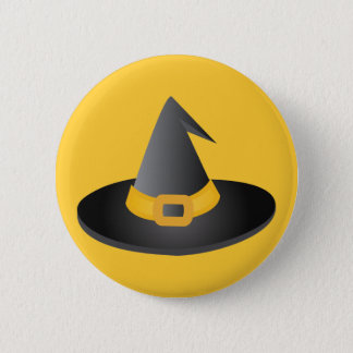 Halloween Witches Hat 2 Inch Round Button