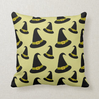 Halloween Witches Hat Pattern Pillow