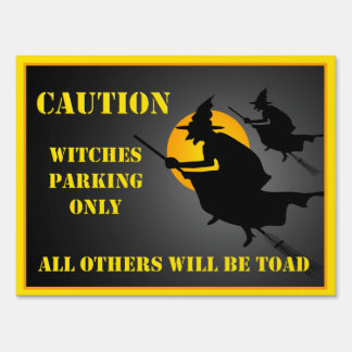 Halloween Witches Parking Yard Sign