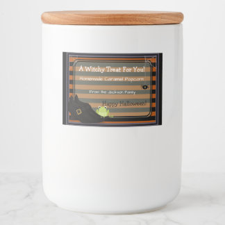 Halloween Witchy Shoes Treat Label