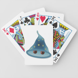 Halloween wizard bicycle playing cards