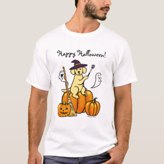 Halloween Yellow Labrador Cartoon 2 T-Shirt
