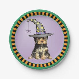 Halloween Yorkie Paper Plate