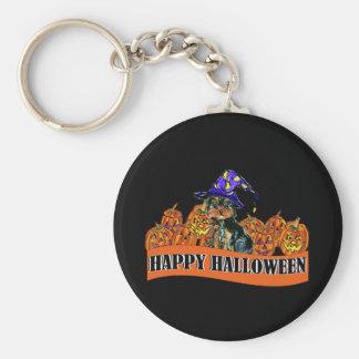 Halloween Yorkie Poo Keychain