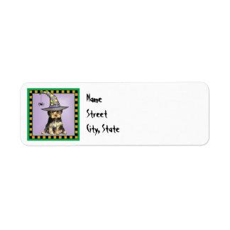 Halloween Yorkie Return Address Label