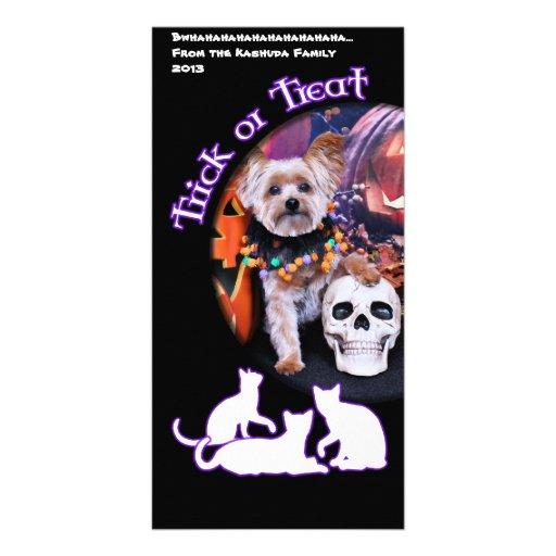 Halloween - Yorkie - Vinnie Photo Card Template
