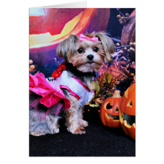 Halloween - Yorkie - Zoey Card