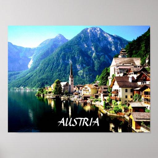 HALLSTATT, AUSTRIA  POSTER
