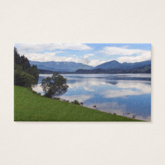 Hallstattersee lake, Alps, Austria Business Card