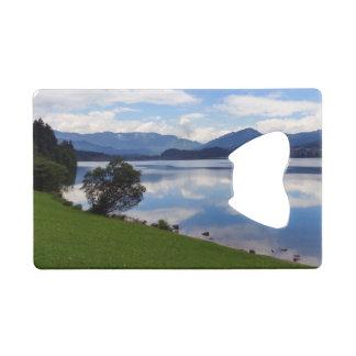 Hallstattersee lake, Alps, Austria Credit Card Bottle Opener