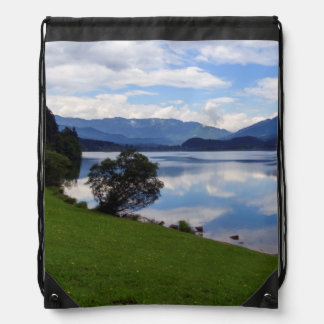Hallstattersee lake, Alps, Austria Drawstring Bag