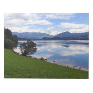 Hallstattersee lake, Alps, Austria Notepad