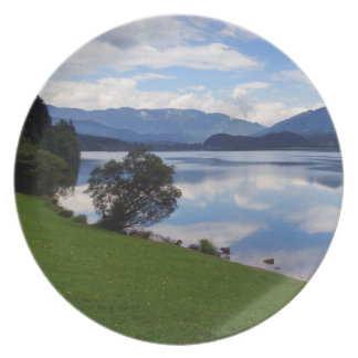 Hallstattersee lake, Alps, Austria Plate