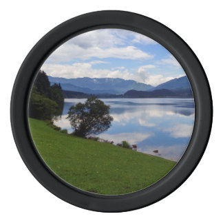 Hallstattersee lake, Alps, Austria Poker Chips