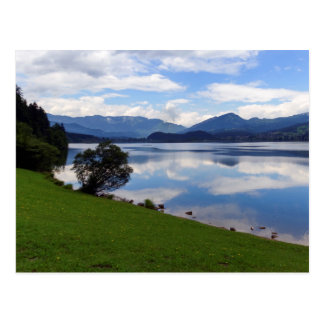 Hallstattersee lake, Alps, Austria Postcard