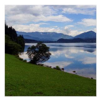 Hallstattersee lake, Alps, Austria Poster