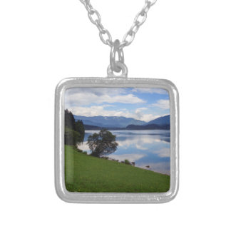 Hallstattersee lake, Alps, Austria Silver Plated Necklace