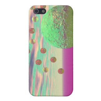 Halo of Moons, Abstract Colorful Cosmos iPhone 5 Case