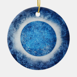 """Halo On Ice"" Abstract Painting Ornament"