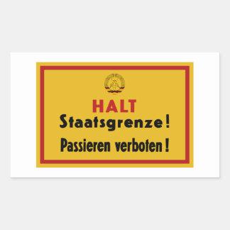 Halt Staatsgrenze! Berlin Wall, Germany Sign Sticker