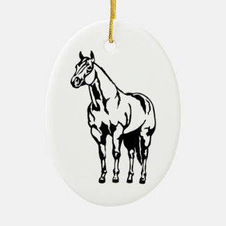 Halter American Quarter Horse Equestrian Ceramic Ornament
