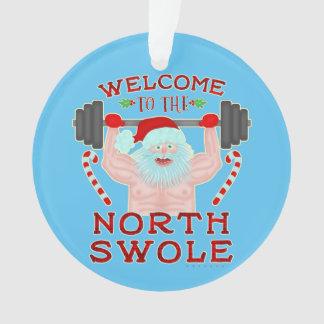 Haltérophile drôle du père noël Swole de Noël