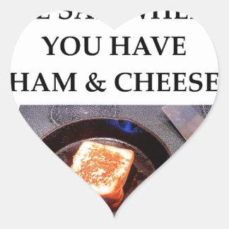 ham and cheese heart sticker