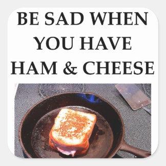 ham and cheese square sticker