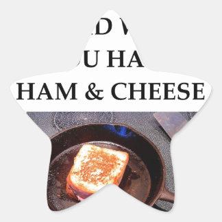 ham and cheese star sticker