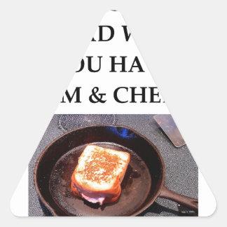 ham and cheese triangle sticker