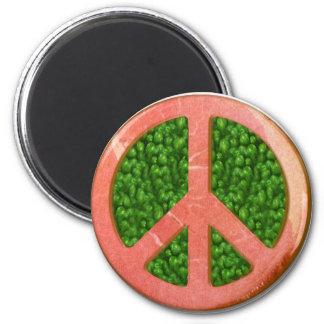 Ham And Peas Peace Symbol Magnet