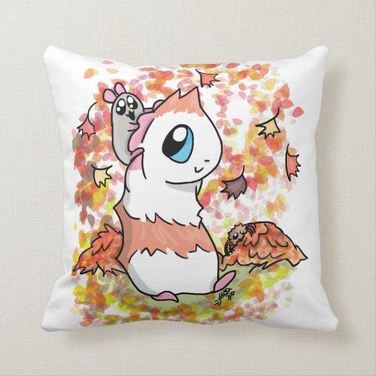 Ham and Piggy autumn Throw Pillow