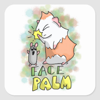 Ham and Piggy facepalm Square Sticker
