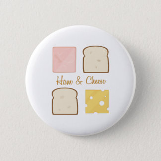 Ham & Cheese 2 Inch Round Button