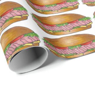 Ham Cheese Sub Sandwich Hoagie Grinder Gift Wrap