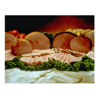 Ham, from the haunch of a pig or boar postcard