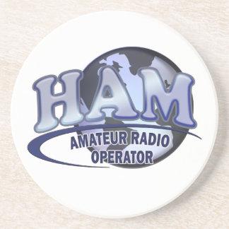 HAM LOGO BLUE AMATEUR RADIO OPERATOR COASTER
