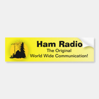 Ham Radio 1st Communication Bumper Sticker