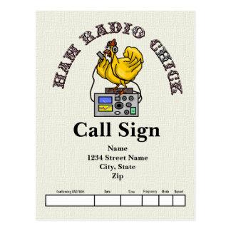 Ham Radio Chick QSL Card